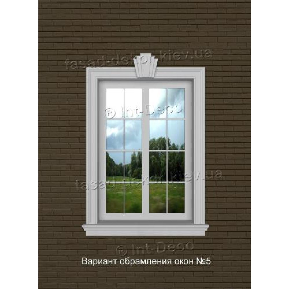 Фасад дома варианты отделки окон на фасаде № 5